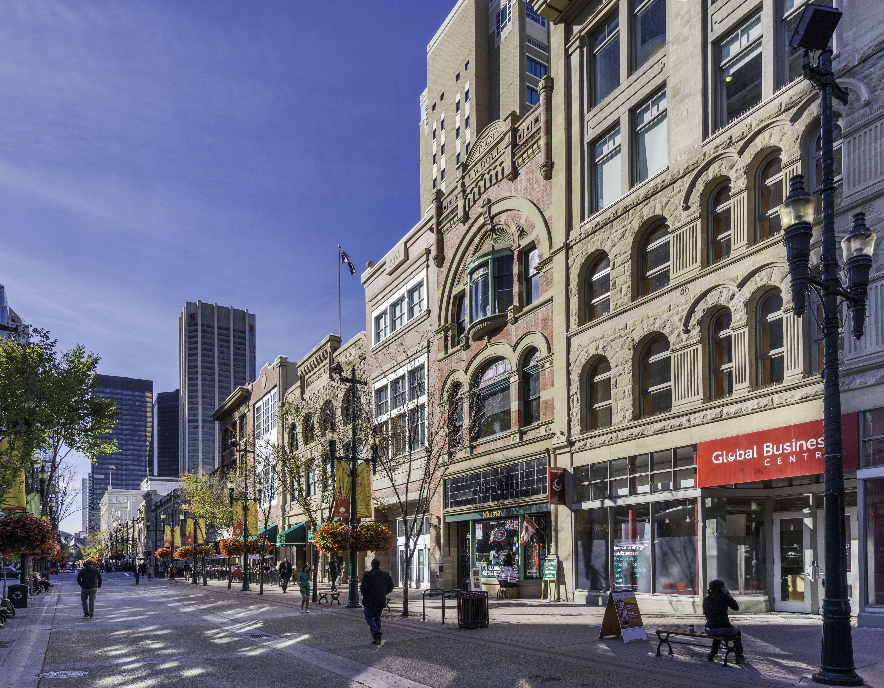 Stephen Avenue, downtown Calgary, Alberta, Canada