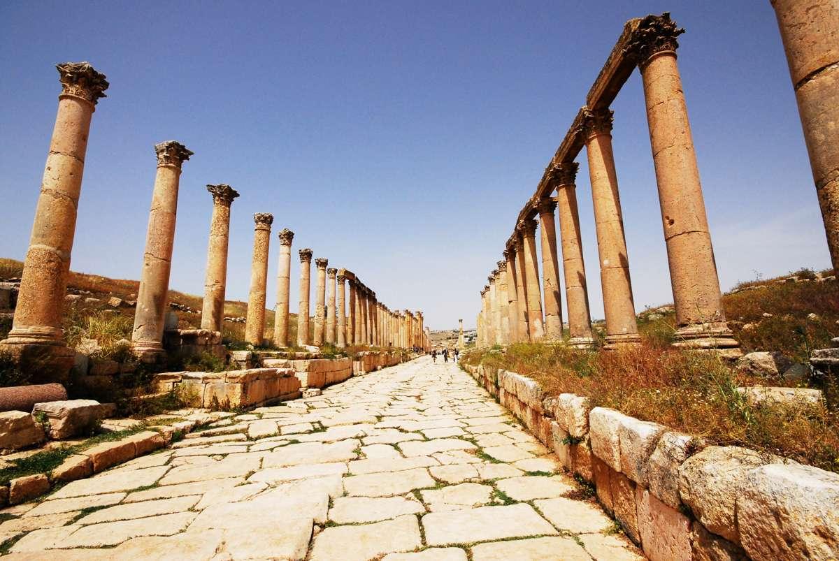 Ancient pillars in Jerash
