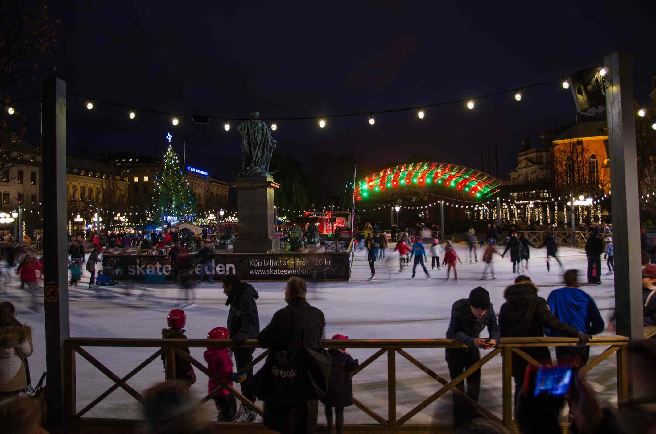 Ice skating park in Stockholm