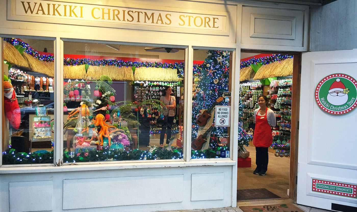Window at the Waikiki Christmas Store