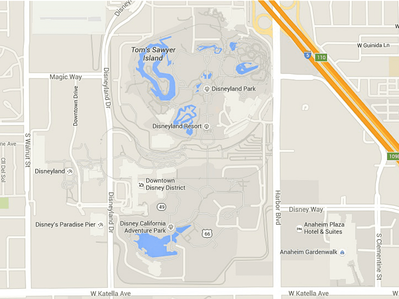 Map Of California Disney.Maps Of Disneyland Resort In Anaheim California