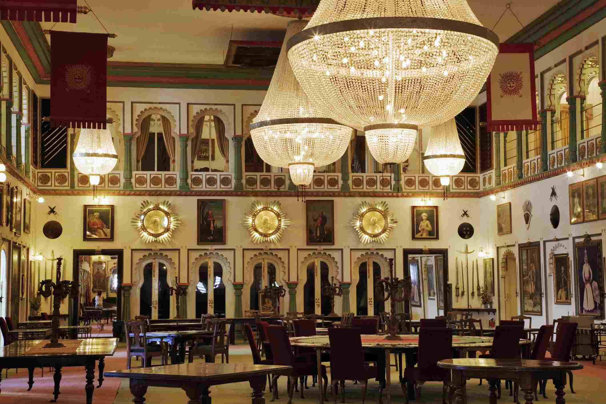 Fateh Prakash Palace Hotel Durbar Hall.