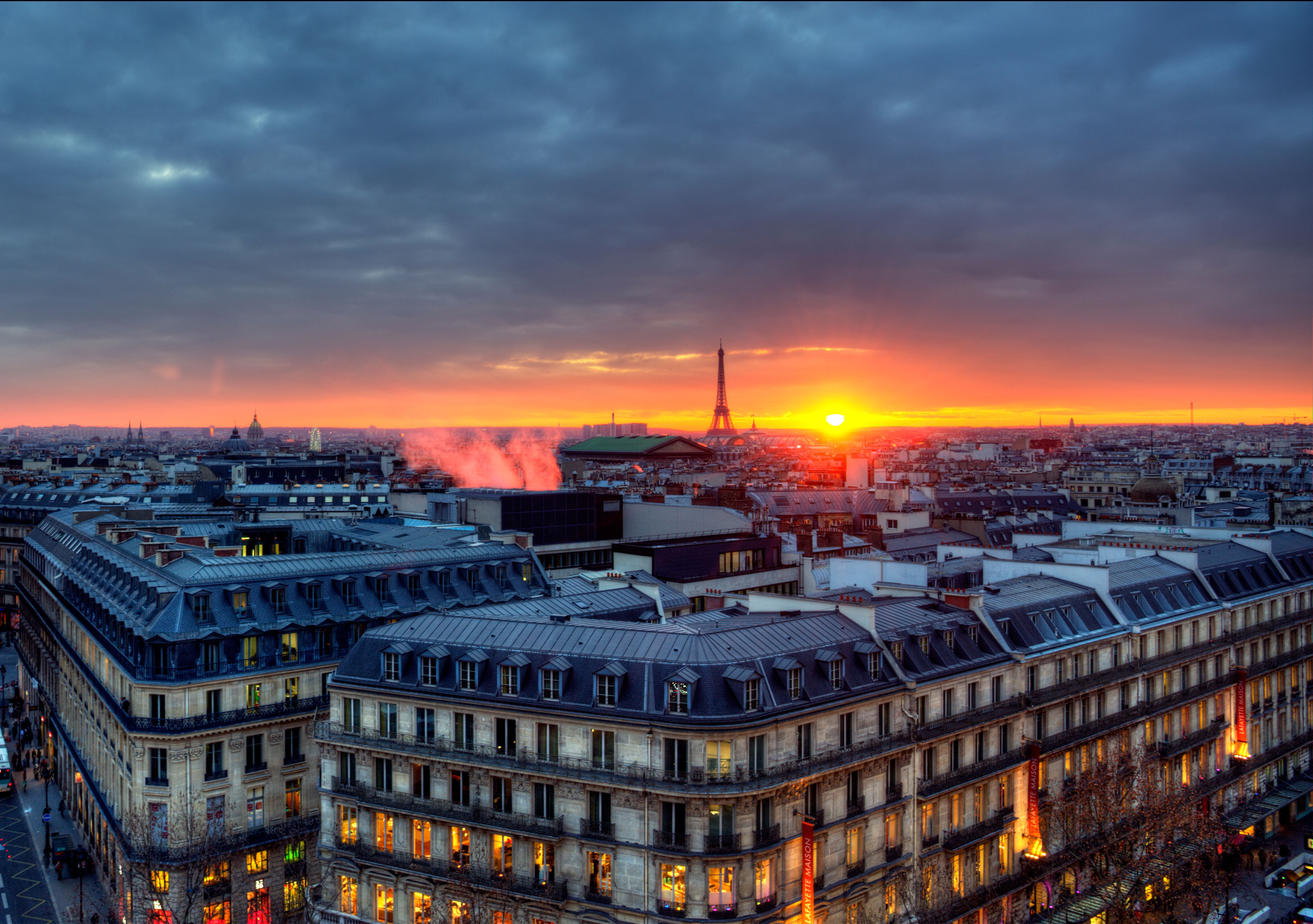 The rooftops of Paris at sunset: little could be more iconic.