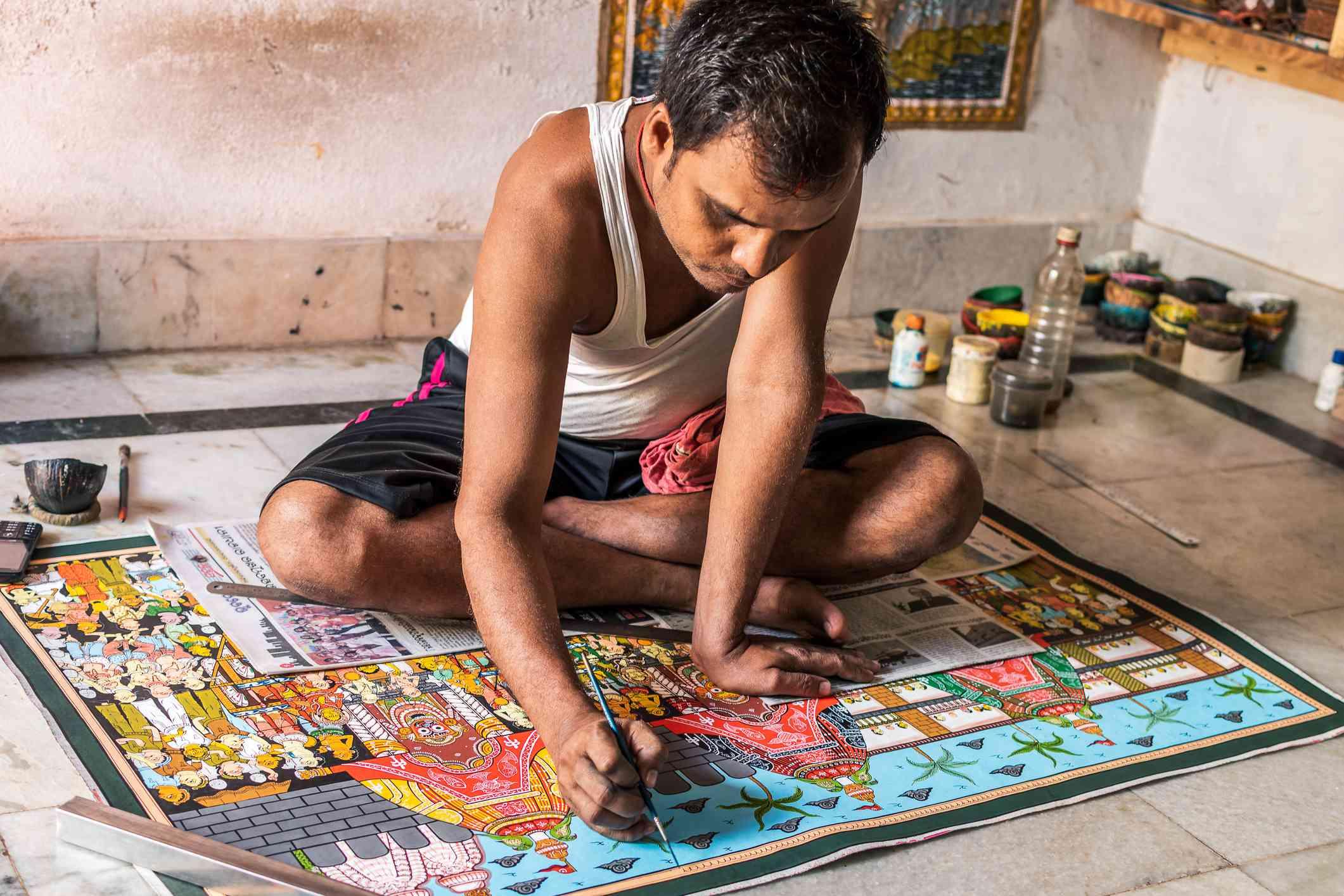 Artist at work in Odisha.
