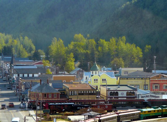 View of Skagway from Ship's Sundeck