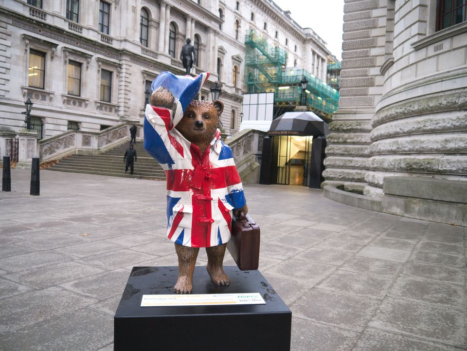 Estatua del oso Paddington en Londres