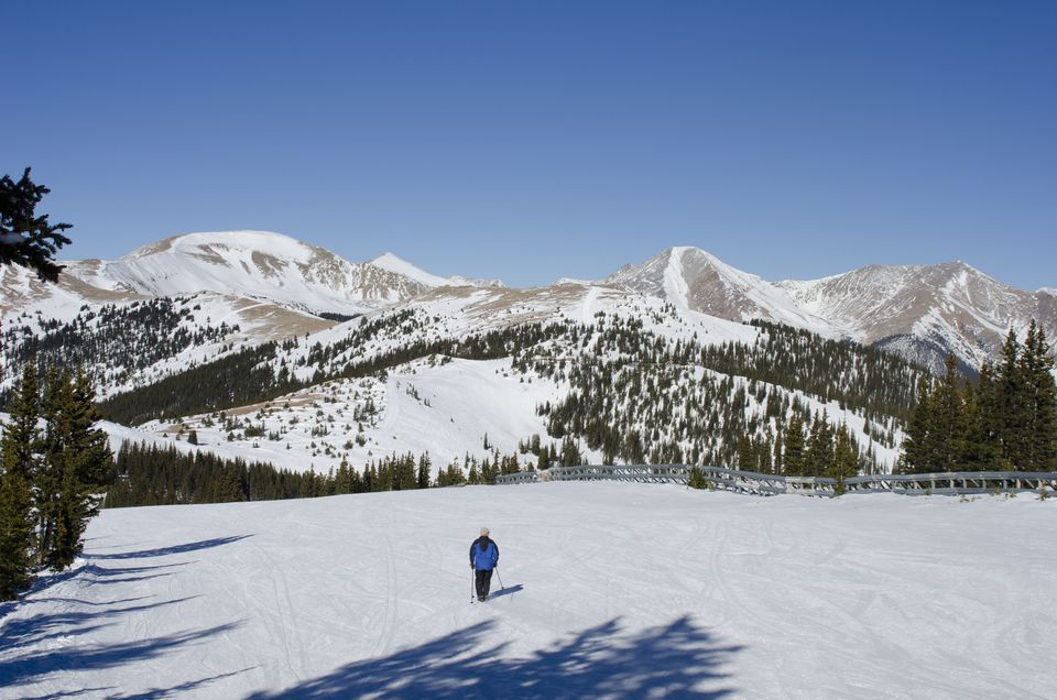 A skier at Monarch Mountain in Colorado