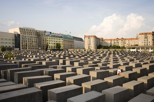 Germany , Berlin City The HolocAust Memorial