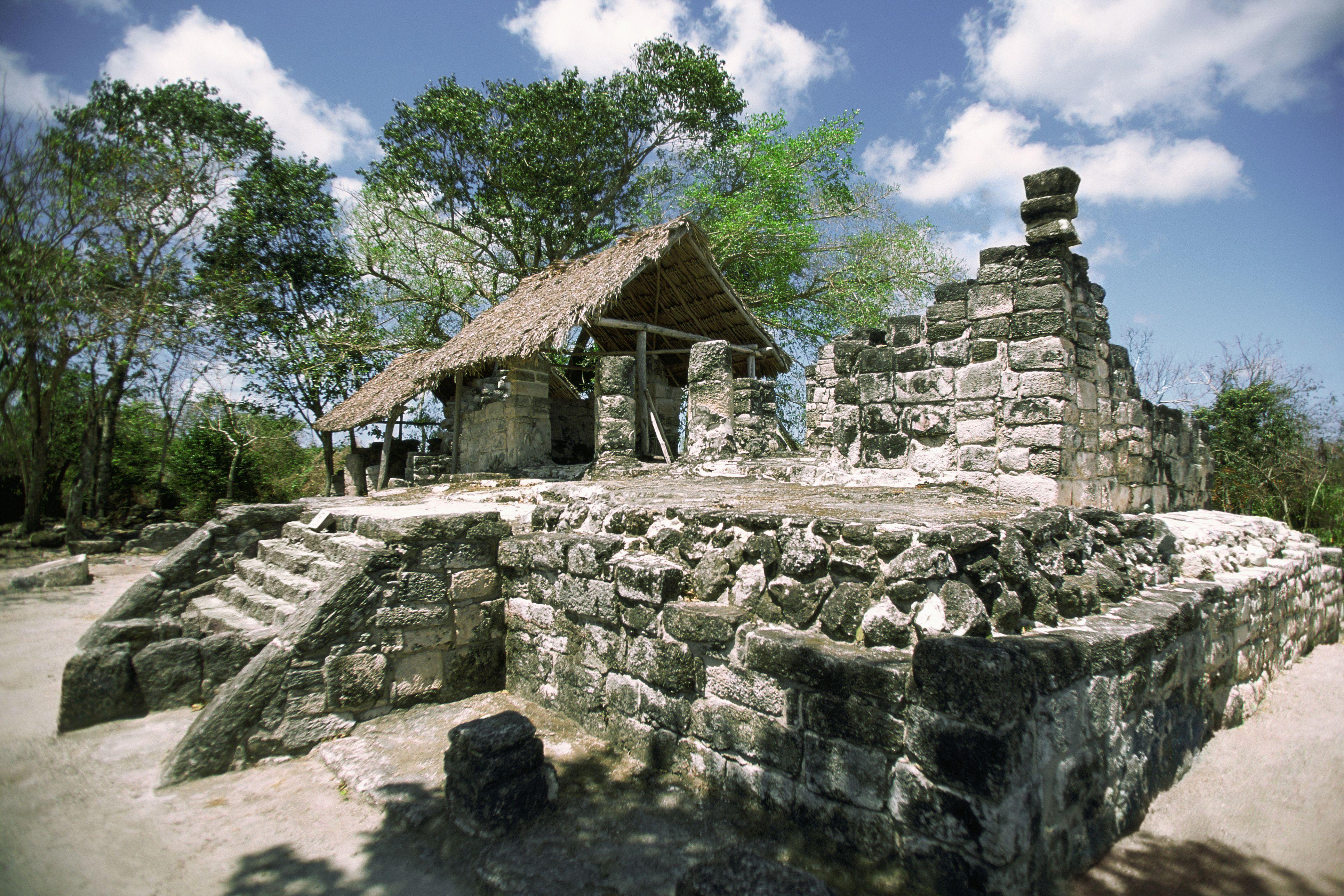 Mexico, Cozumel, San Gervasio, Mayan ruins