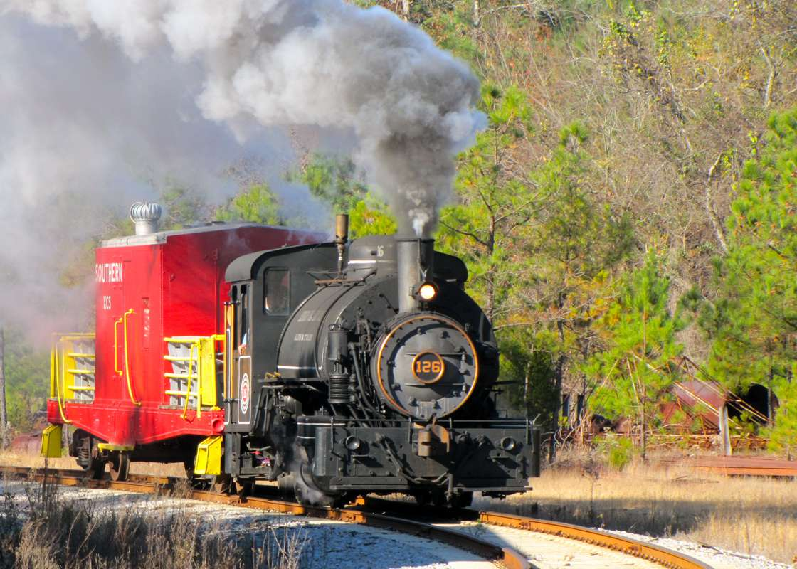 Steam train on the Oklahoma Railway