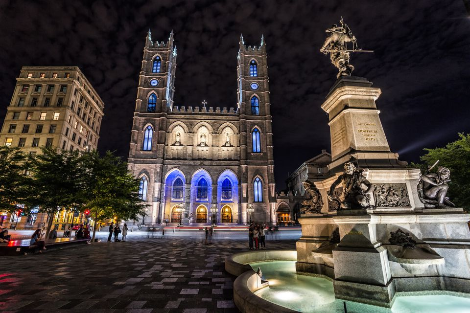 Place d'Armes at night