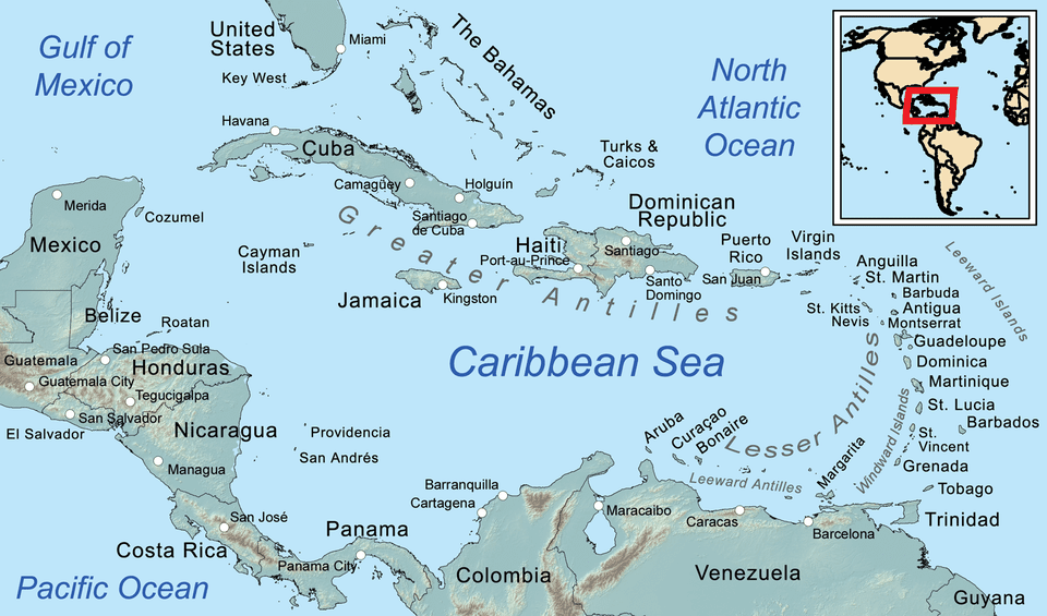 Map Of The Caribbean Islands And Mexico Visiting the Caribbean's Lesser Antilles Islands