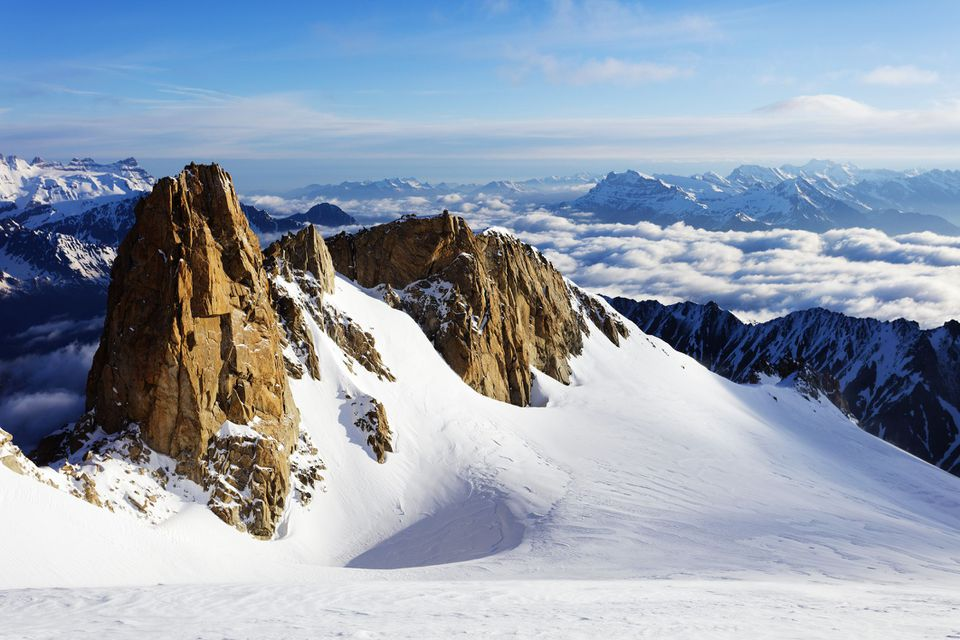 Suiza, Valais, frontera suiza francesa, paisaje de montaña con Glacier du Trient