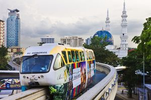 Monorail near Hang Tuah Station