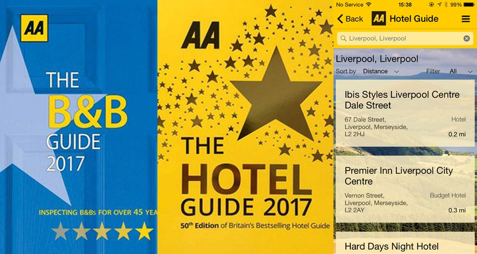 AA Guides covers