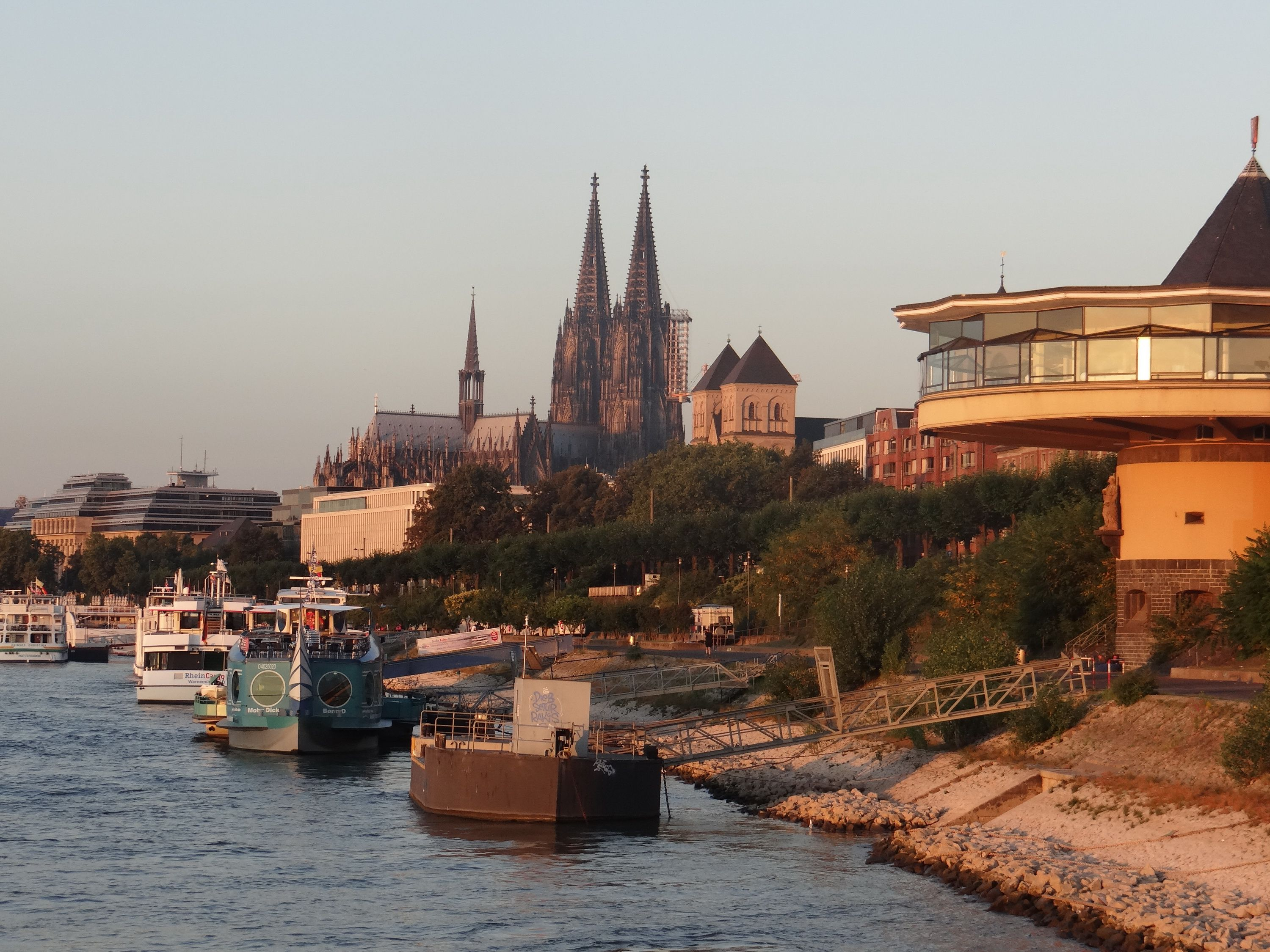 Cologne Cathedral on the Rhine River