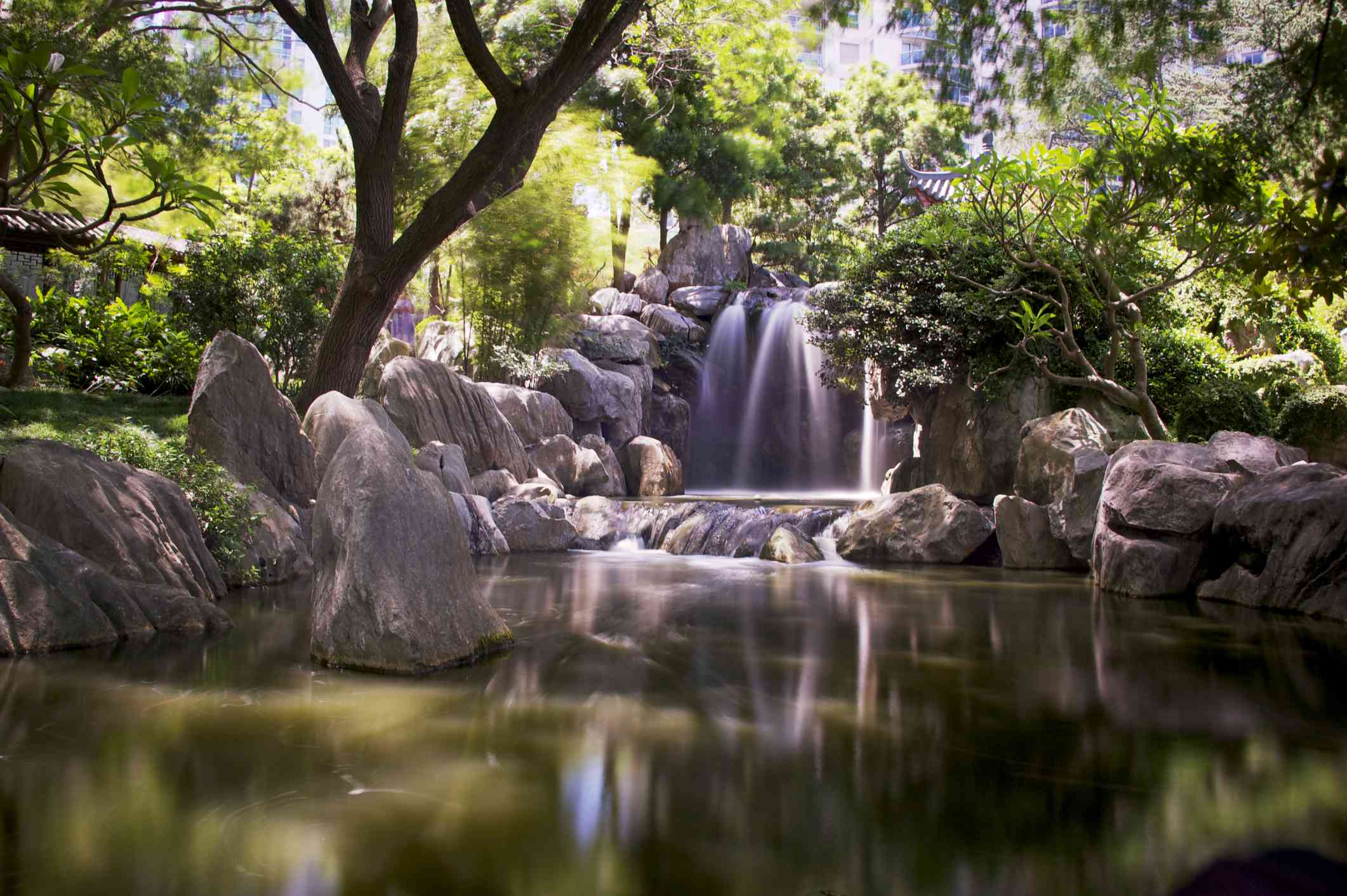 Waterfall in the Chinese Garden of Friendship