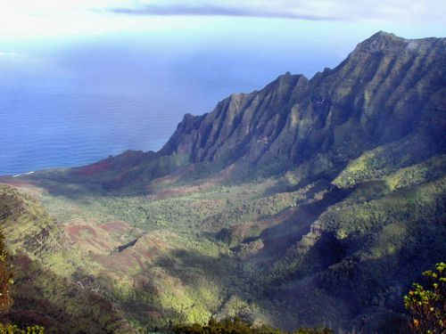 Kalalau Valley as seen from the Pu`u o K