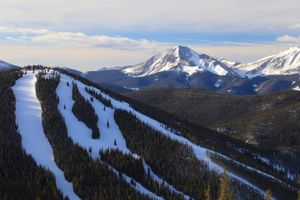 North Peak ski run at Keystone Ski Resort in Colorado