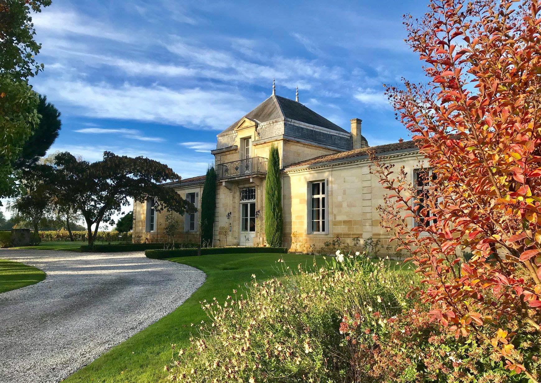 Château Cordeillan-Bages wintery in Bordeaux