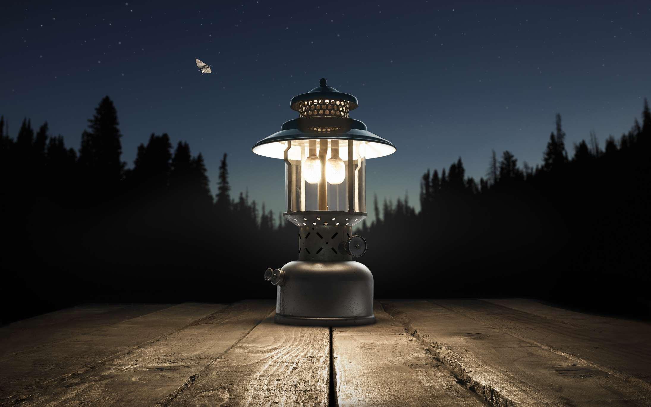 A camping lantern.