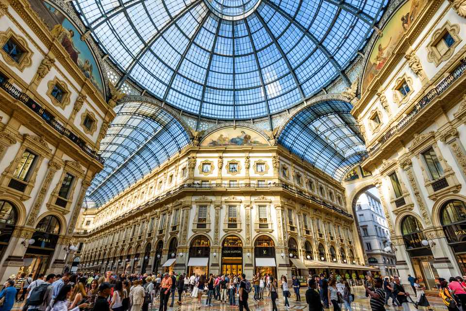 La Galleria Vittorio Emanuele II en Milán, Italia