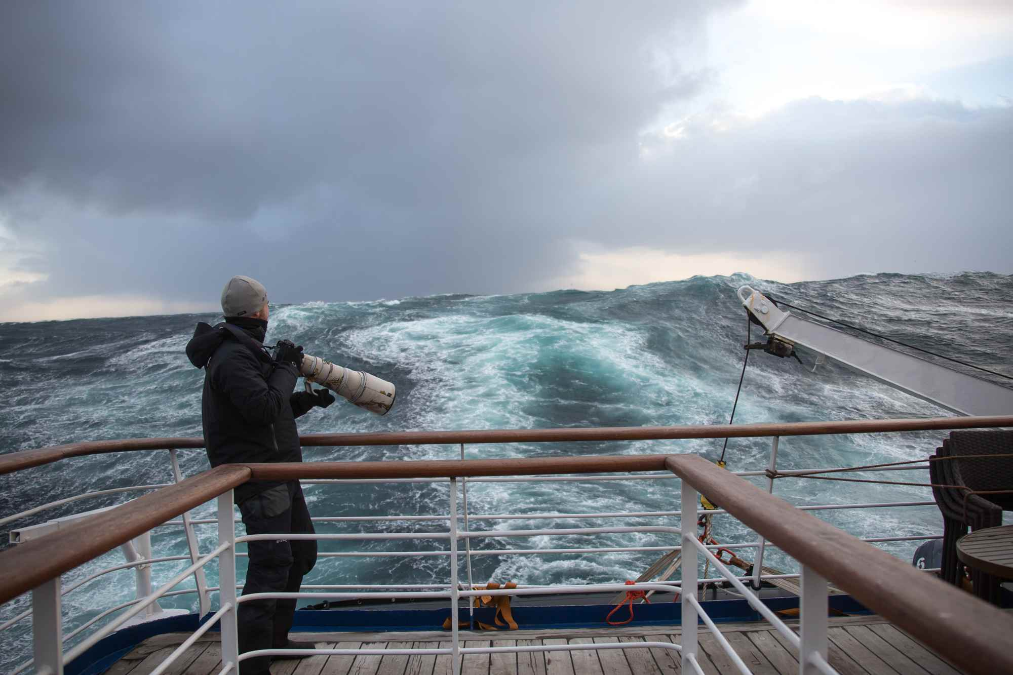 Taking photos in rough seas can be interesting