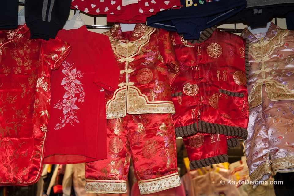 69fa37d120a Chinese formal wear for kids at a shop in Chinatown