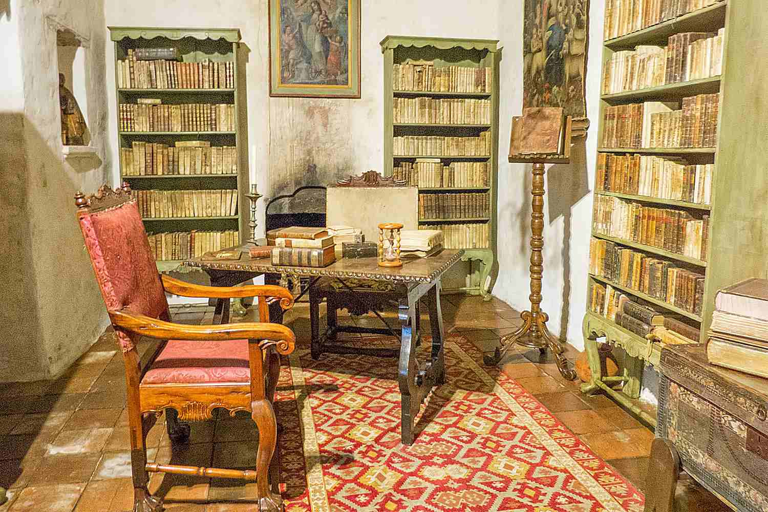 California's First Library, at Mission Carmel