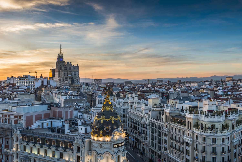 Madrid, Spain: Circulo de Bellas Artes rooftop