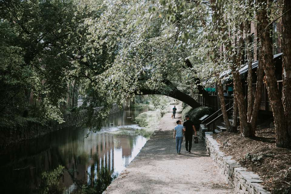 People walking along the canal in Georgetown