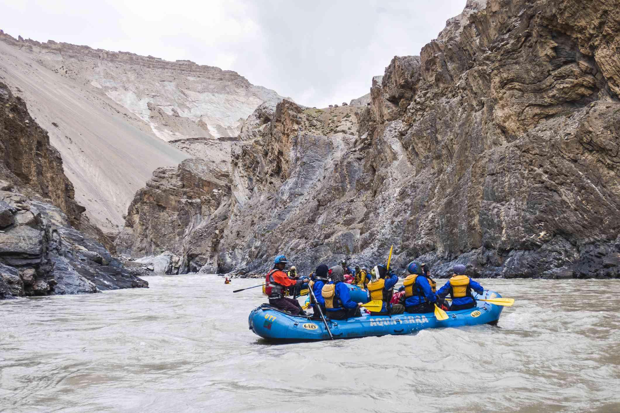 Rafting through magnificent Zanskar Gorge, Ladakh
