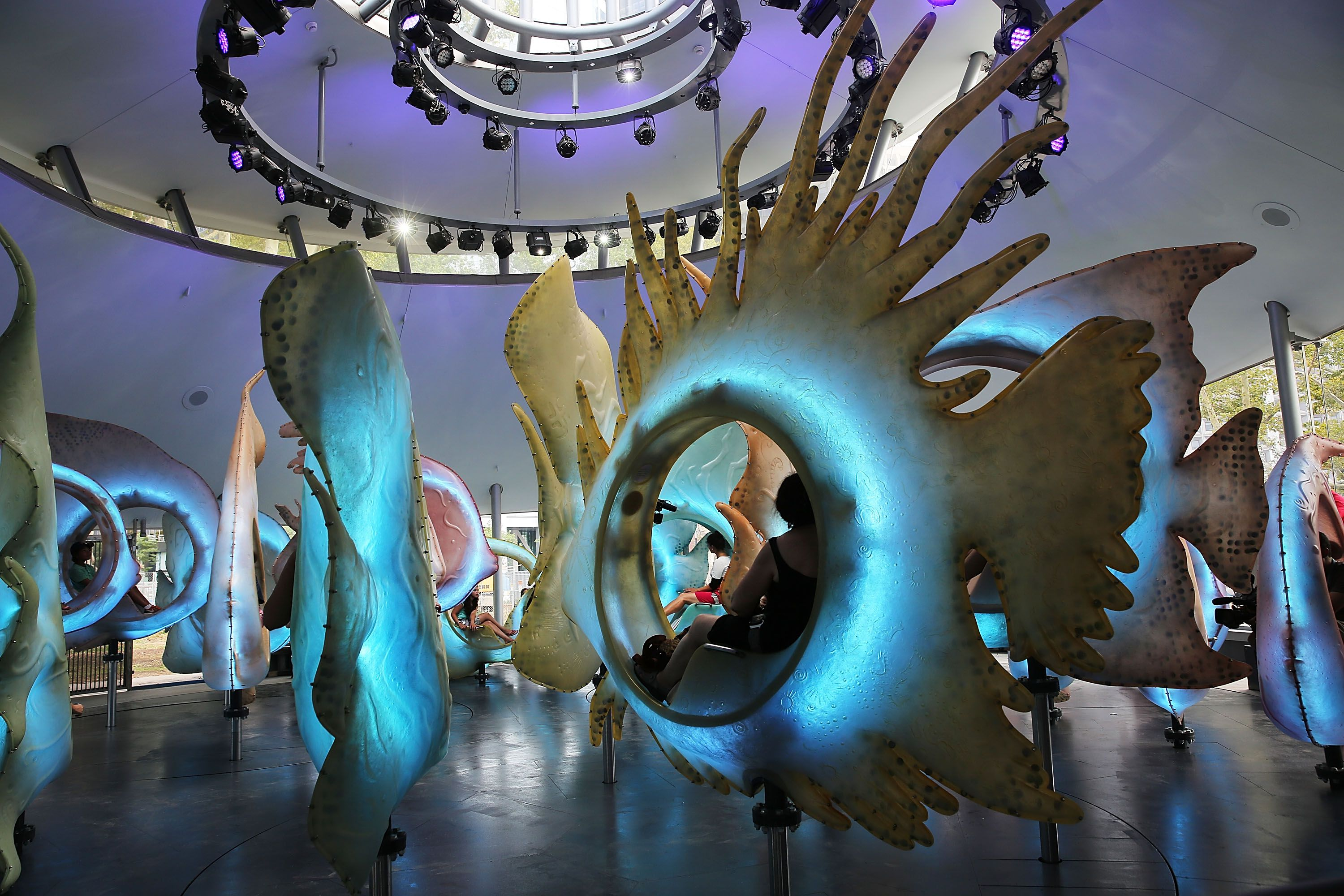 Newly Completed SeaGlass Carousel To Open In Lower Manhattan