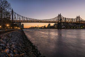 Queensboro (59th Street) Bridge at twilight, Queens bridge Park