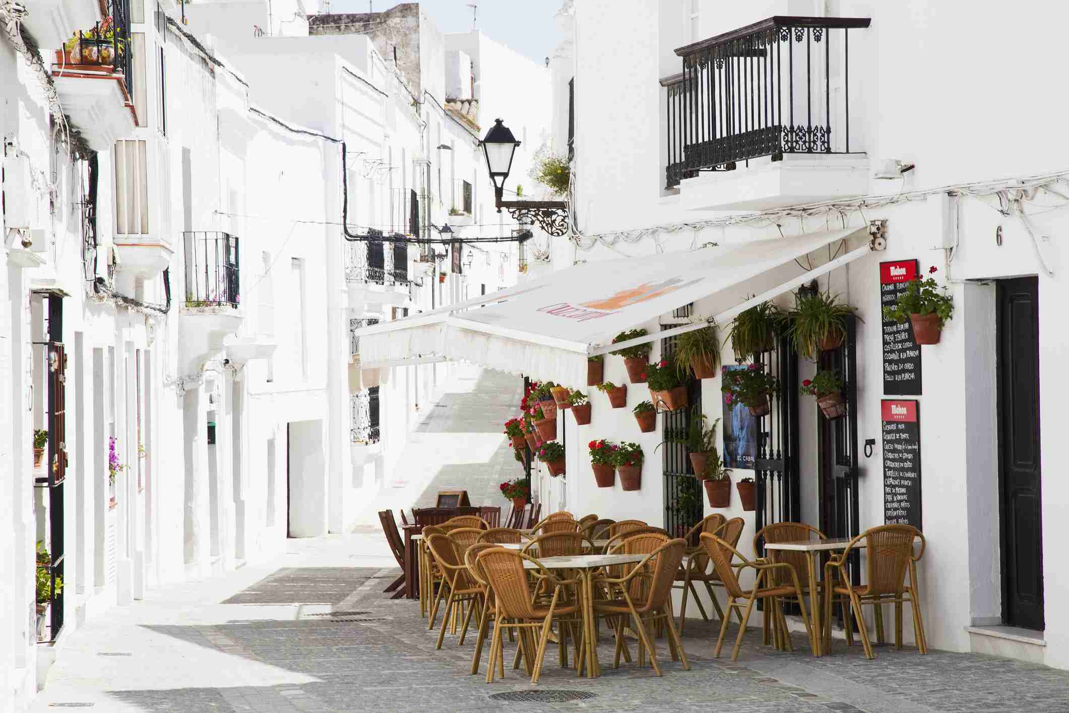 An outdoor cafe in Andalusia