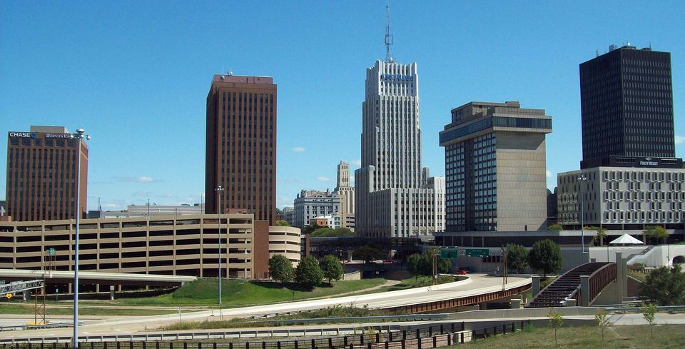 El centro de Akron
