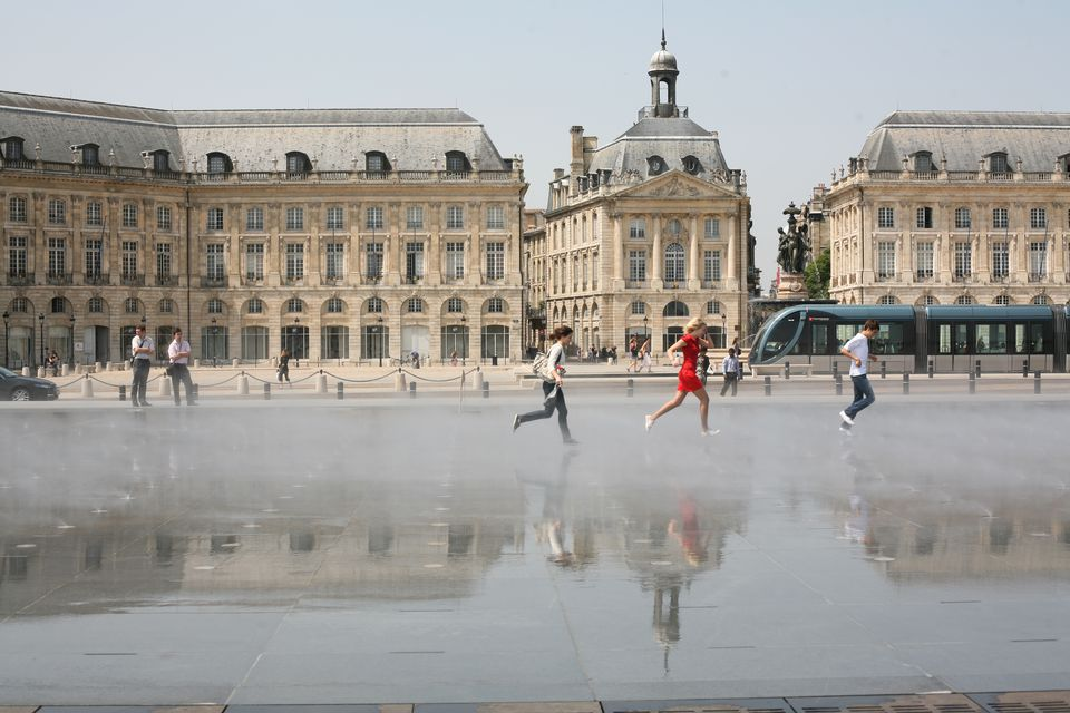 The Mirror of Water in front of the Bourse