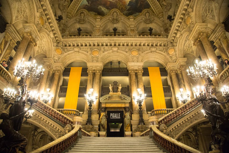 Grand stairway of Opera Garnier in Paris
