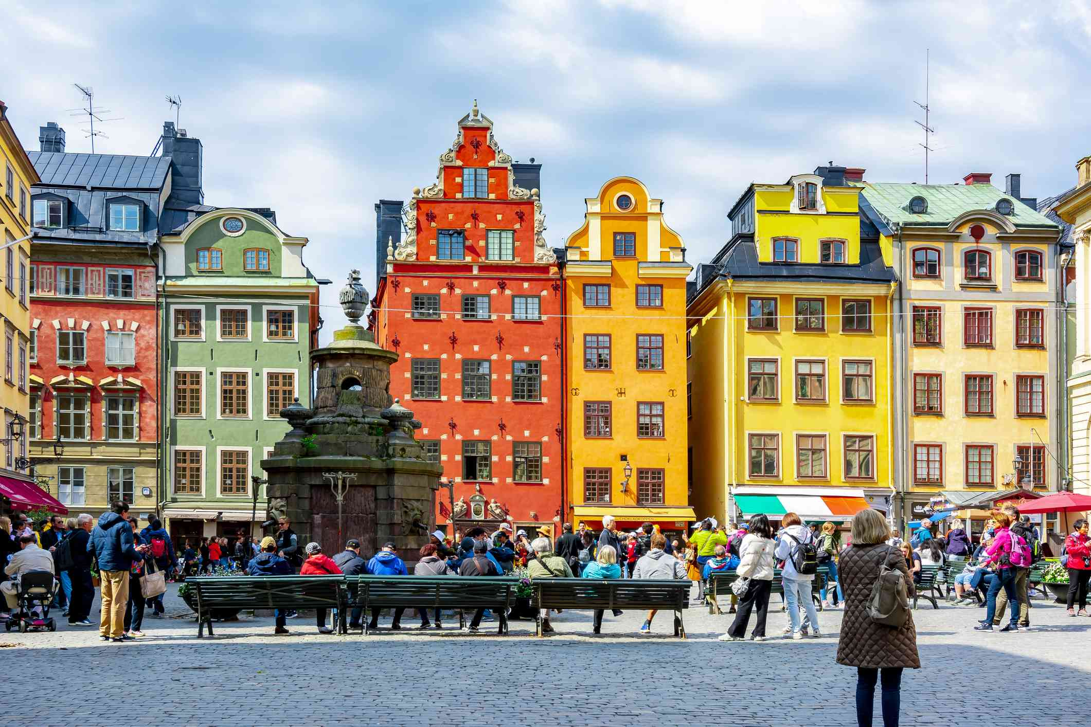 Colorful houses in Stortorget Square