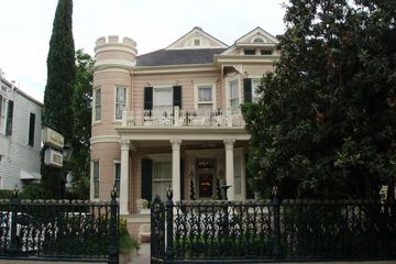 Exterior view of the Cornstalk Hotel in New Orleans.