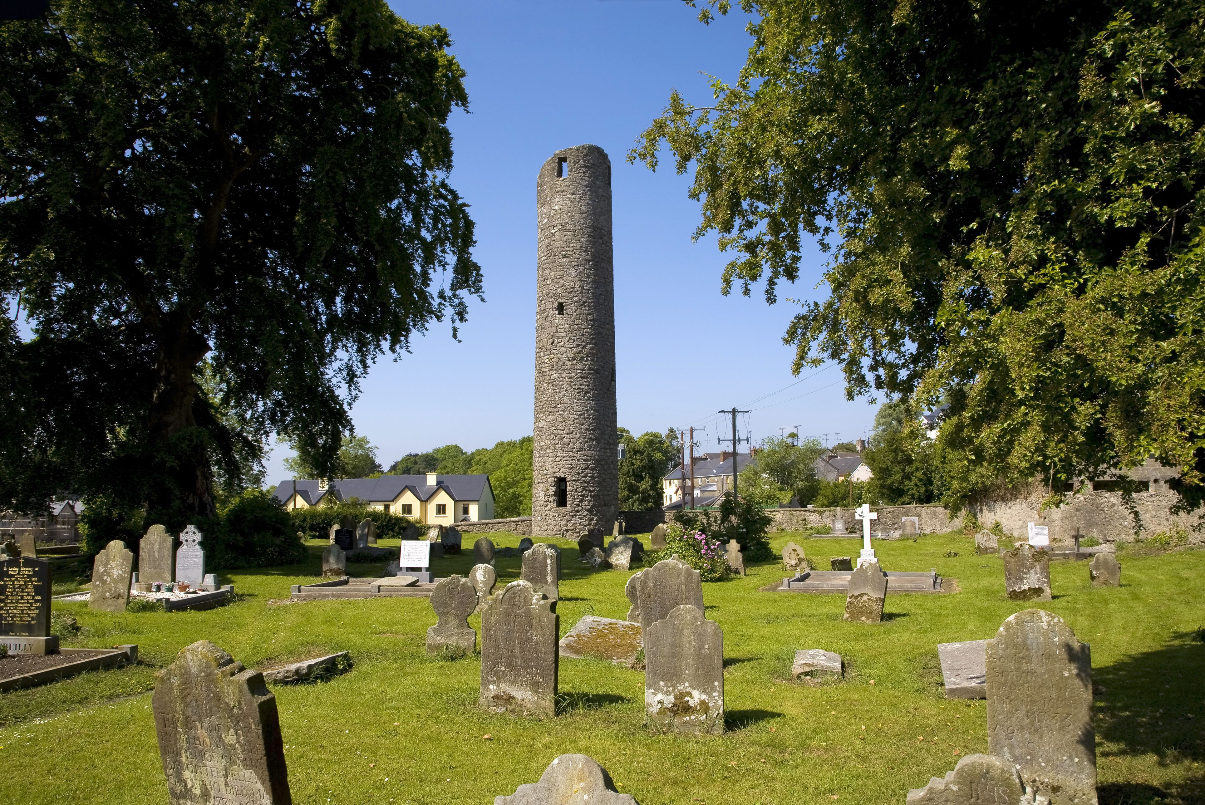 St. Tighearnach's Cemetary and the round tower