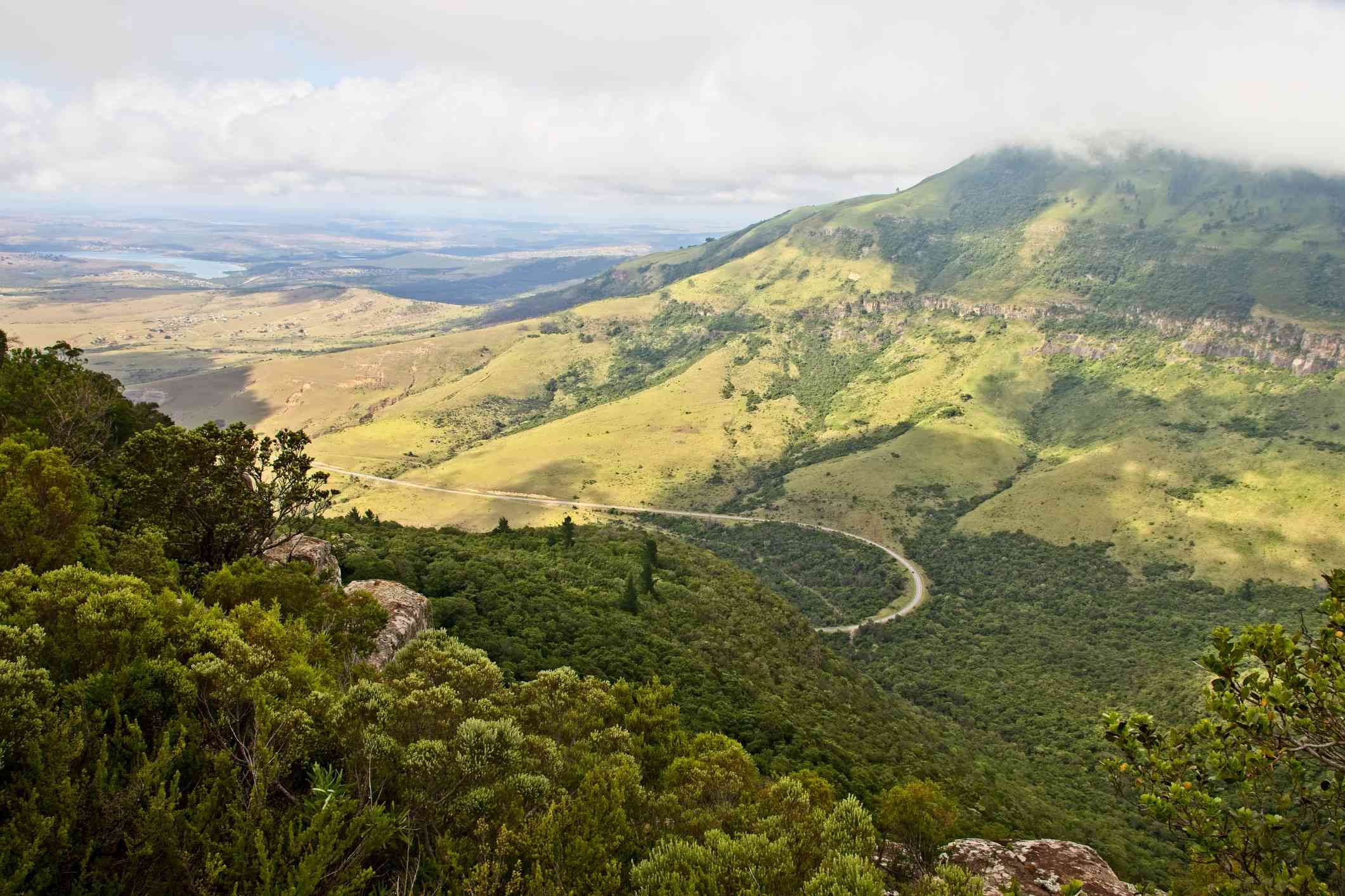 The edge viewpoint in Hogsback, South Africa. This is a popular tourist attraction.