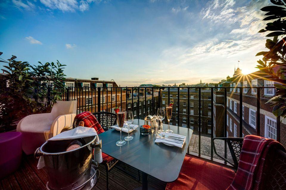 La vista desde el Apex Temple Court Hotel en Londres