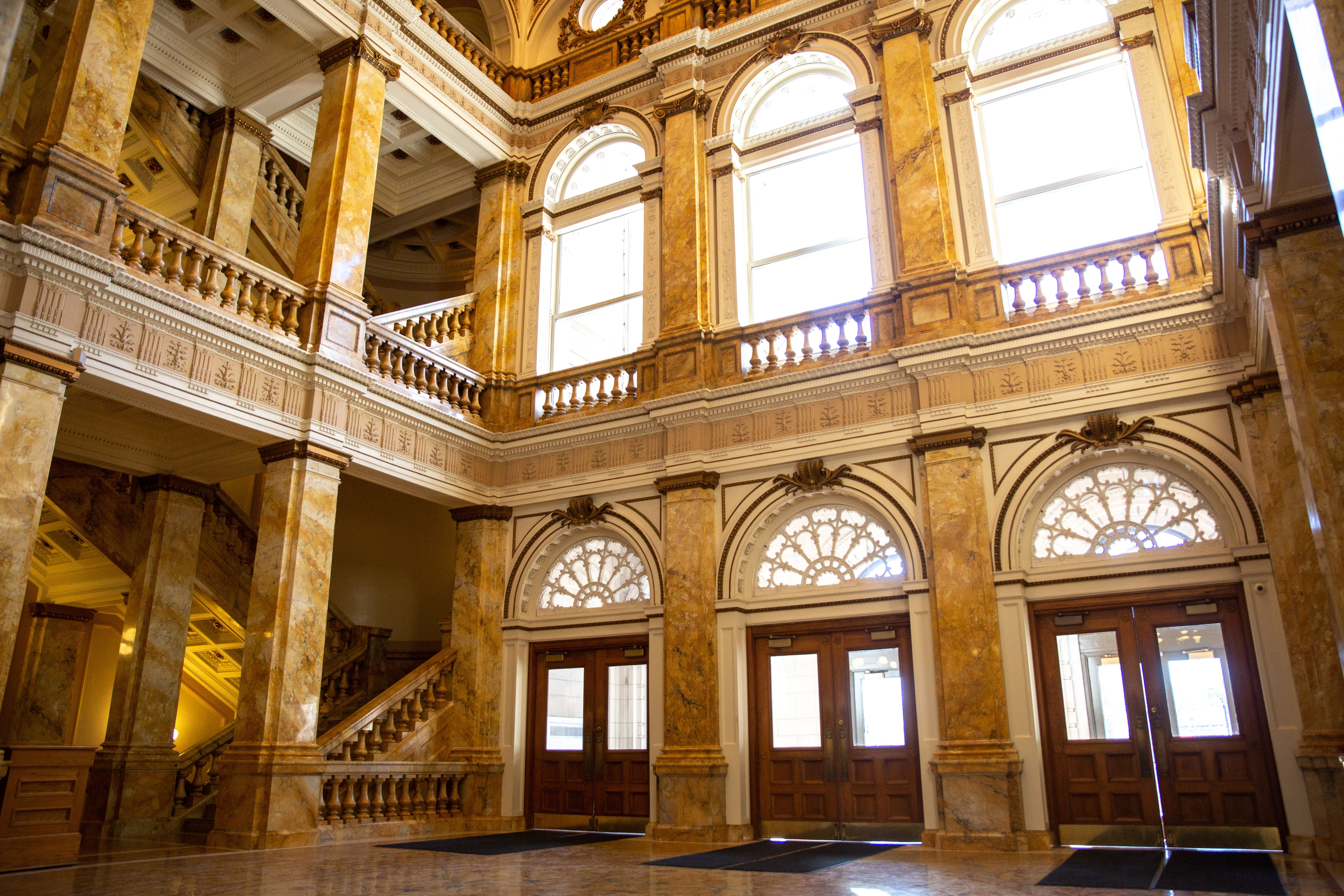 Dentro de la biblioteca central