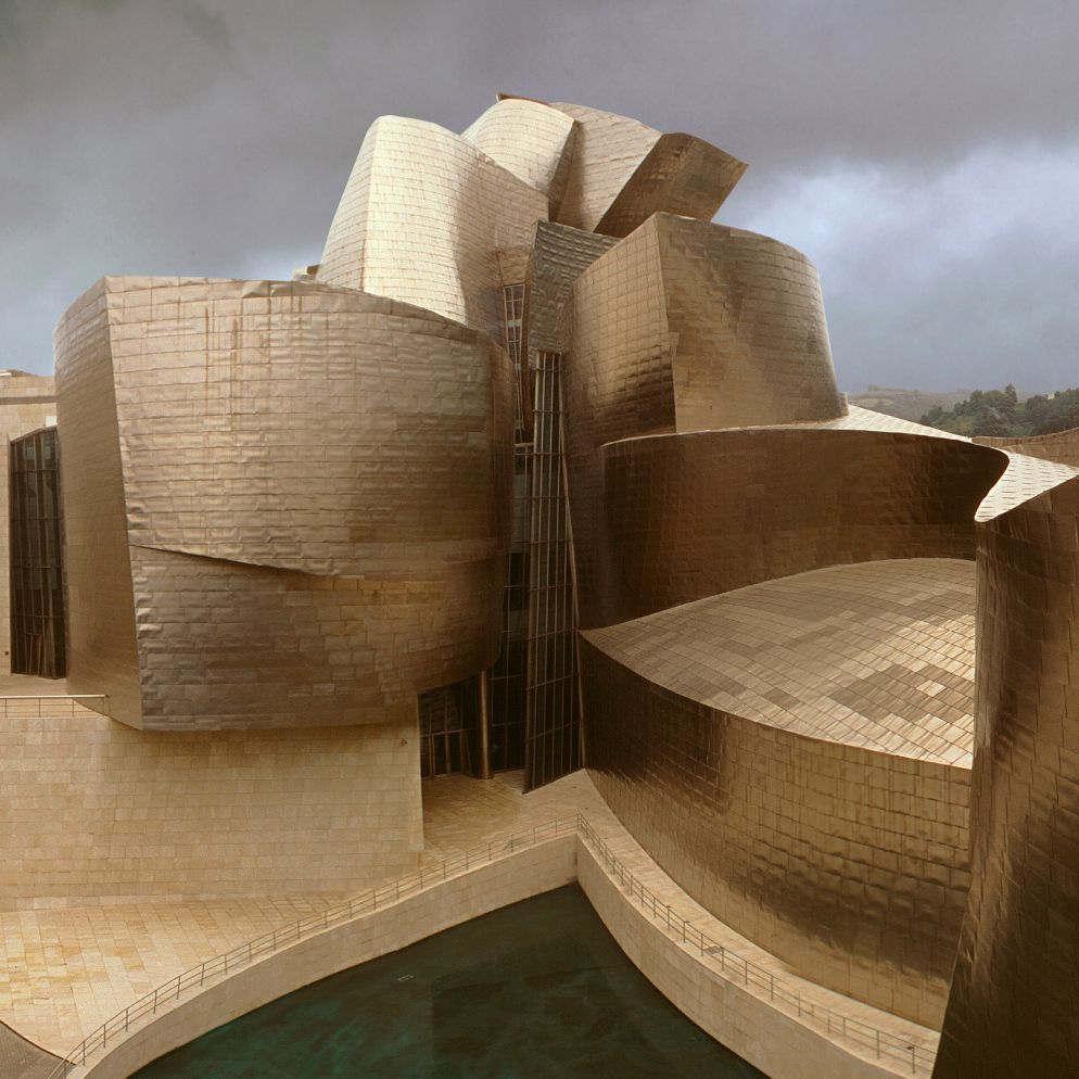 The Guggenheim Museum in Bilbao, Spain by architect Frank Gehry
