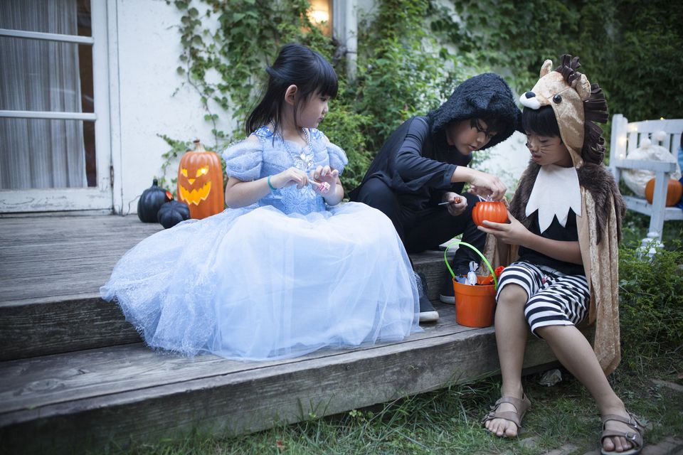 Children celebrating Halloween in Japan