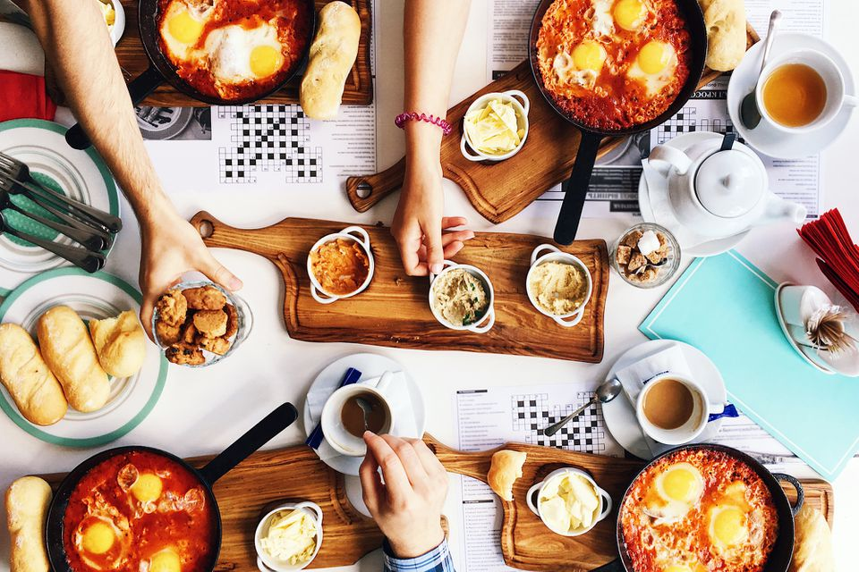 Brunch, as seen from above
