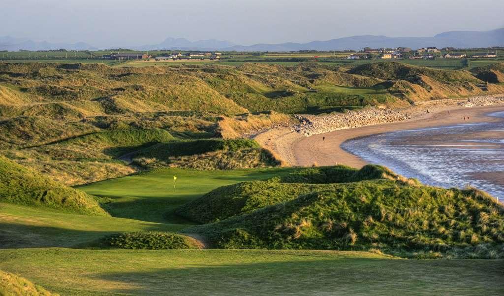 golf course next to ocean