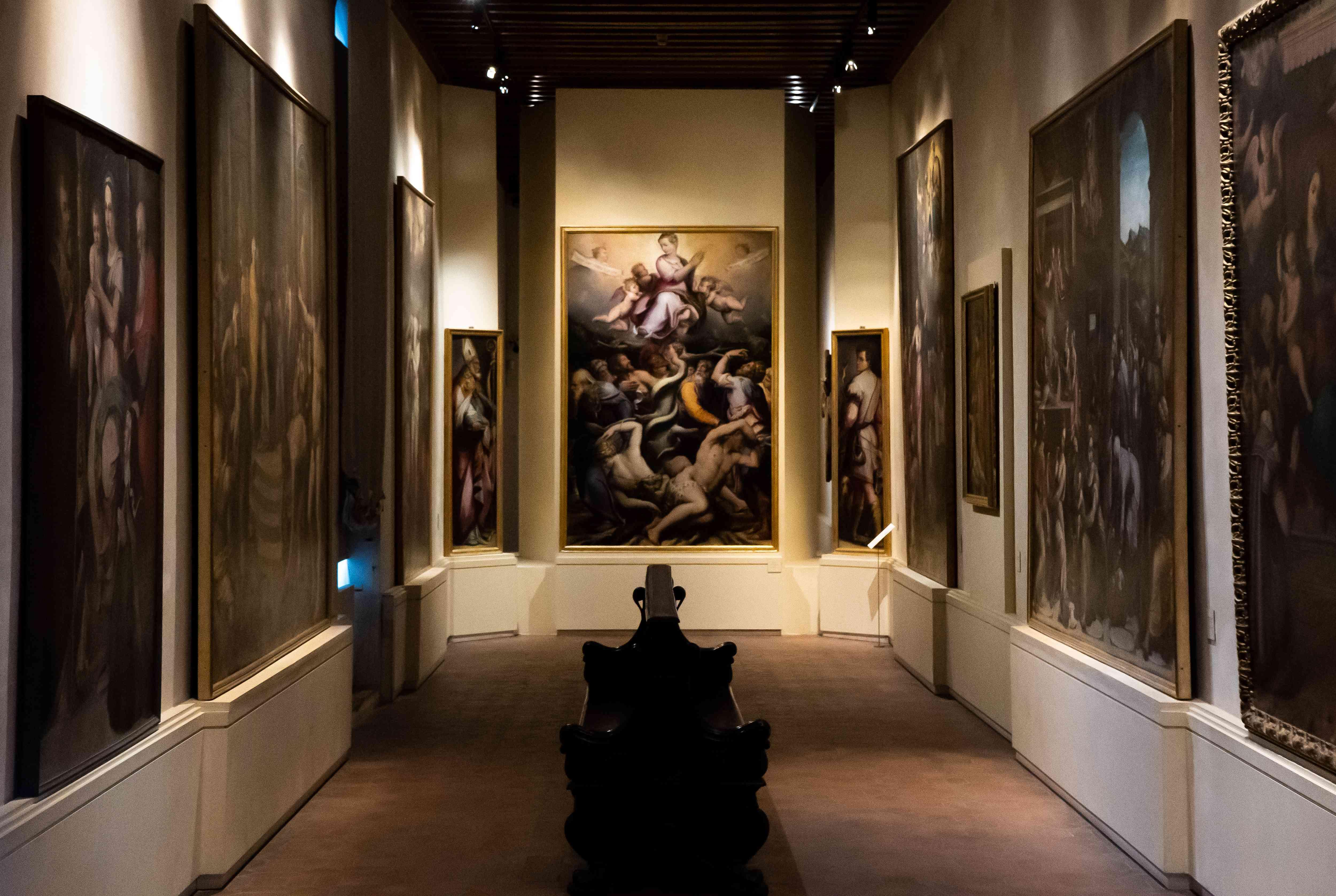 Paintings inside Villa Guinigi National Museum