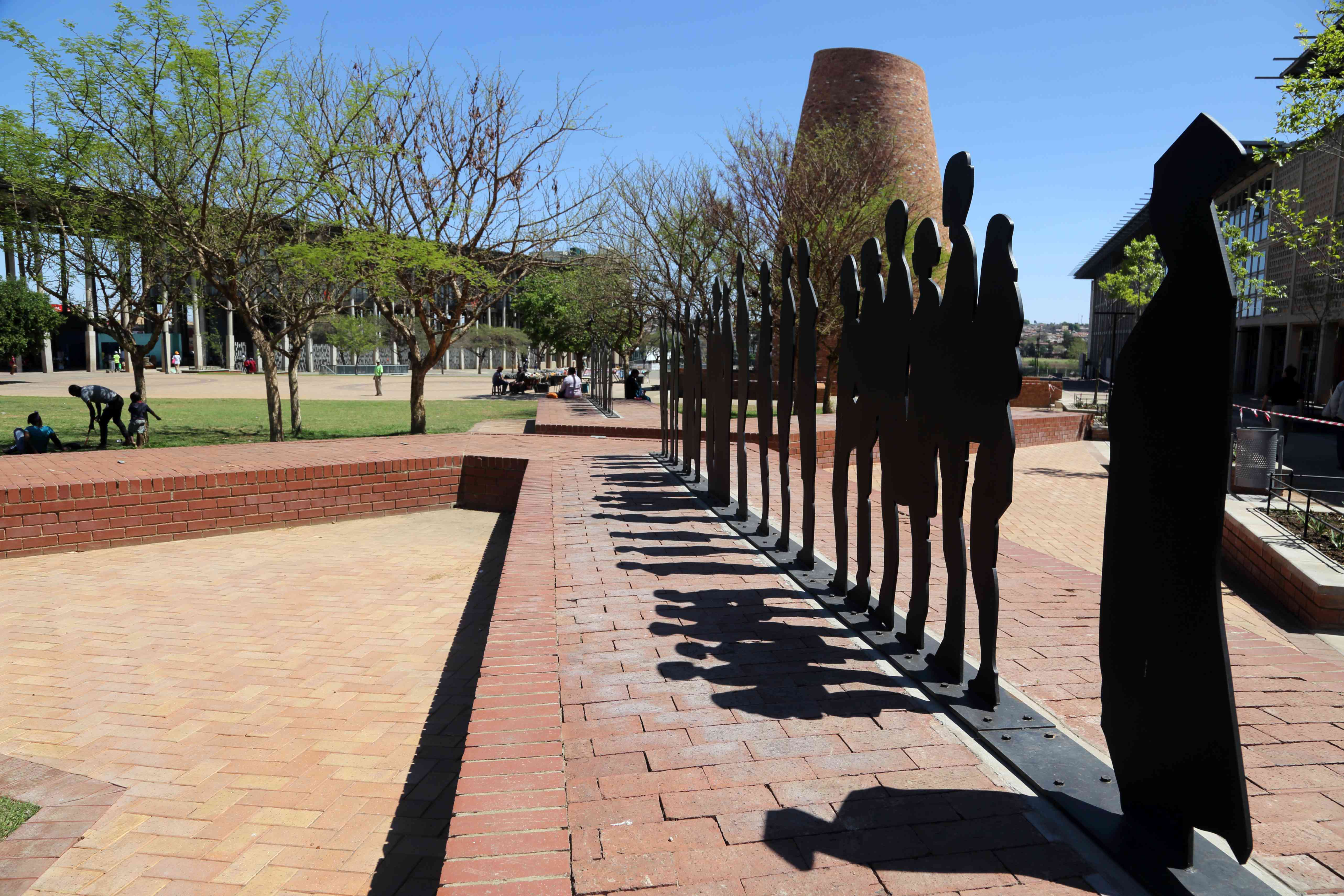 Sculpture in Walter Sisulu Square, Soweto, Johannesburg, South Africa